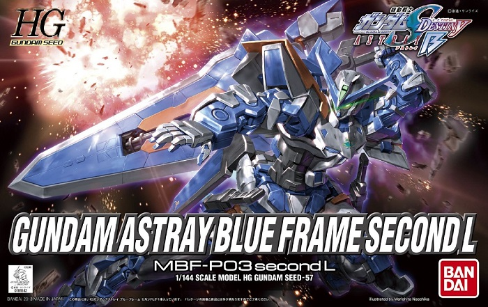 HG GUNDAM Model Kit ASTRAY BLUe FRAME SECoND L 1/144