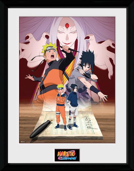 Poster com Moldura Premium Naruto & Sasuke 45 x 34 cm
