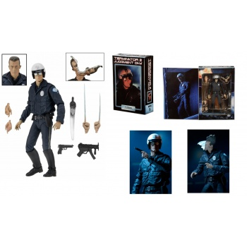 Terminator 2 - T-1000 Motorcycle Cop Ultimate Action Figure 18 cm