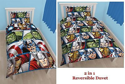 Capa de Edredon The Avengers Set Reversible 135 x 200 cm / 48 x 74 cm