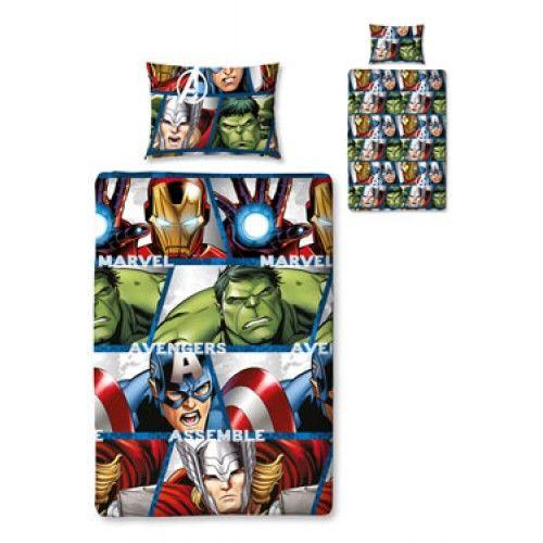 Capa de Edredon The Avengers Set Reversible 135 x 200 cm / 48 x 74 cm