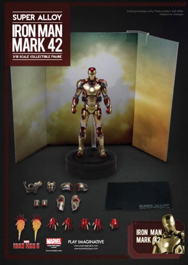 Action Figure Iron Man 3 Super Alloy 1/12 Iron Man Mark XLII 15 cm