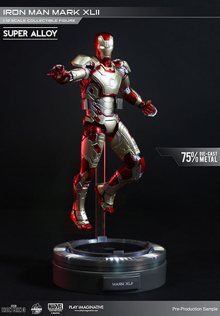Action Figure Iron Man 3 Super Alloy 1/12 Iron Man Mark XLII 15 cm