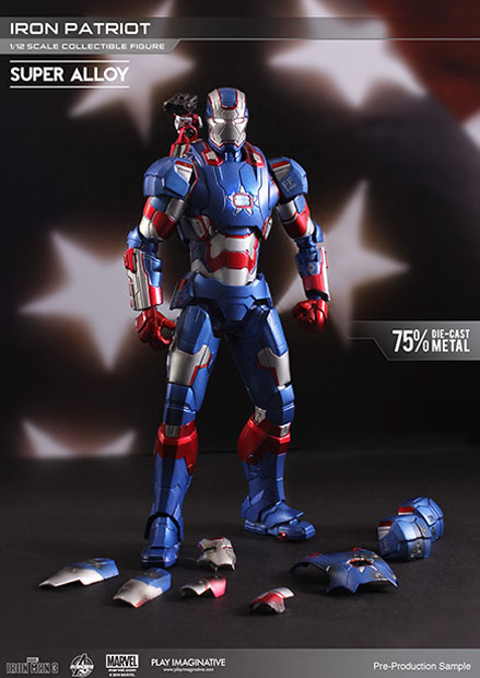 Iron Man 3 Super Alloy Action Figure 1/12 Iron Patriot 15 cm