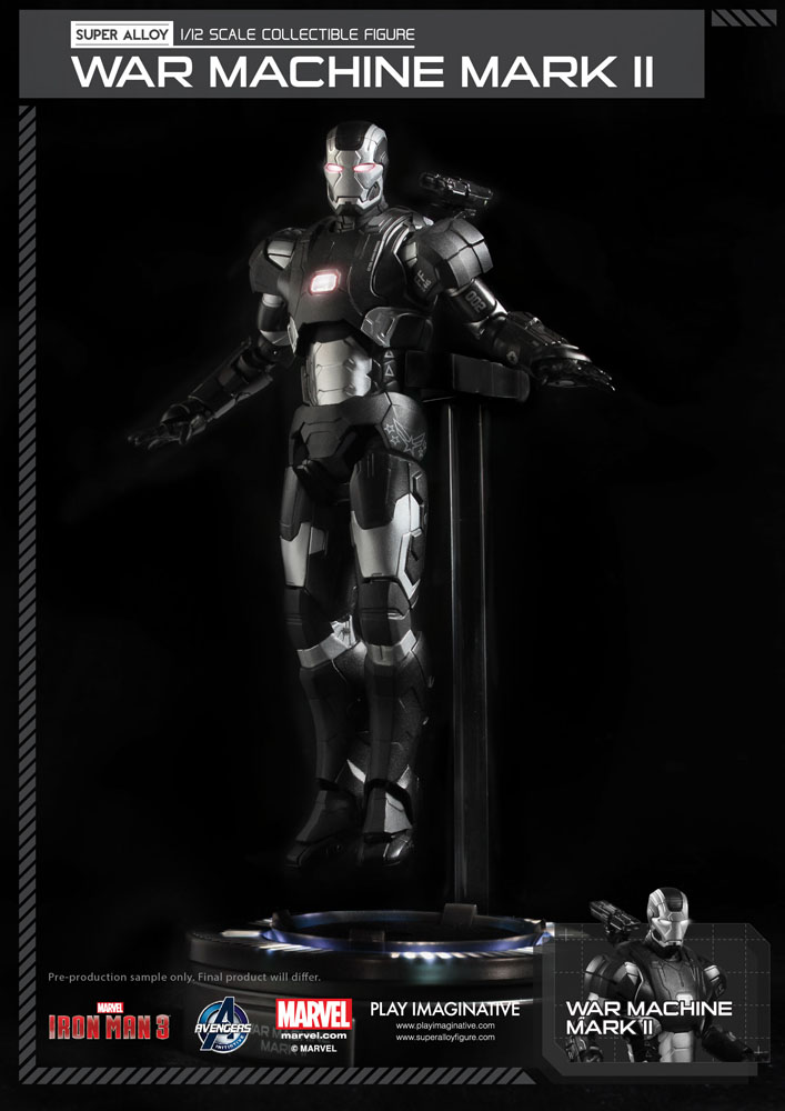 Action Figure Iron Man 3 Super Alloy 1/12 War Machine Mark II Ver. 2 15 cm