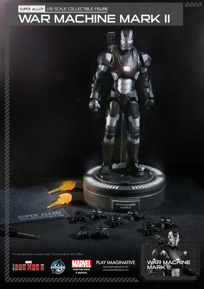 Action Figure Iron Man 3 Super Alloy 1/12 War Machine Mark II Ver. 2 15 cm