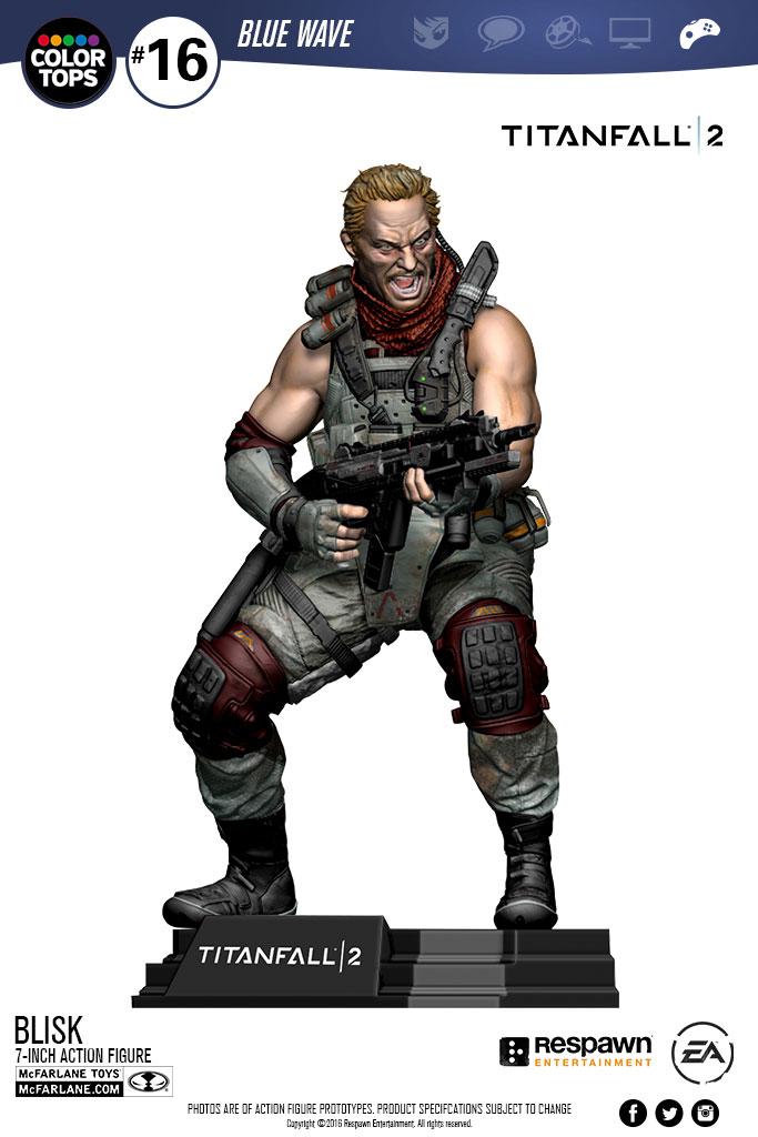 Action Figure Titanfall 2 Color Tops Blisk 18 cm