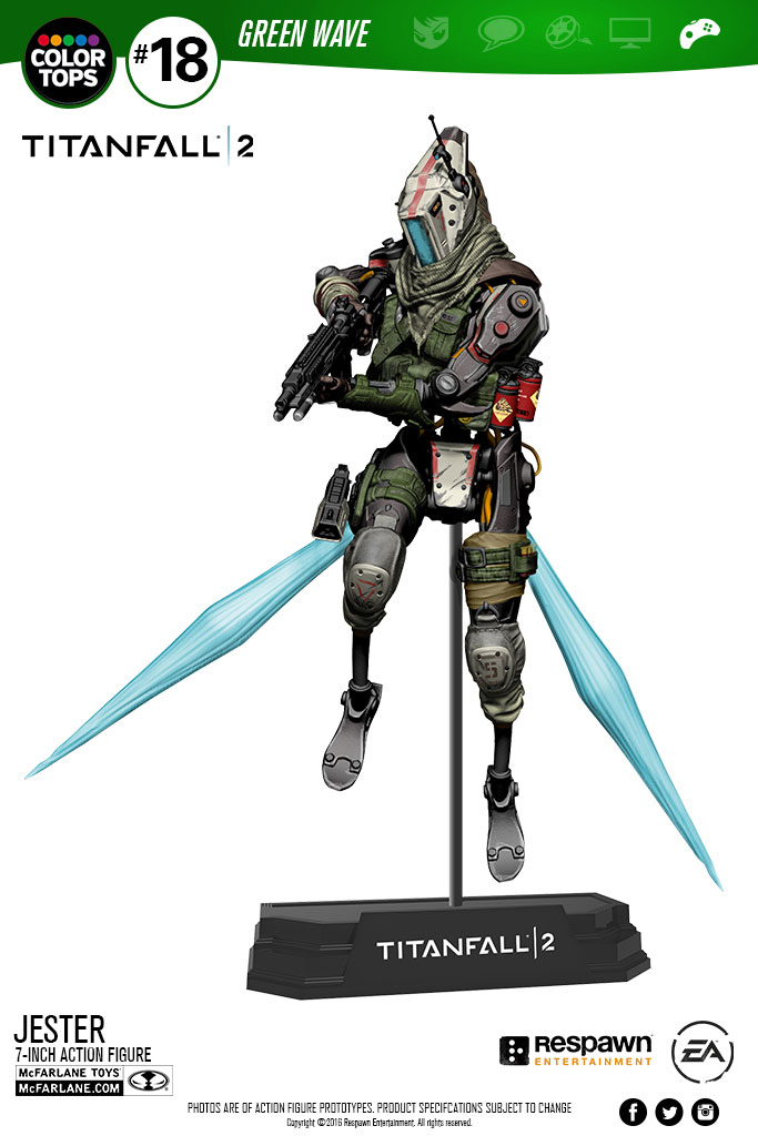 Titanfall 2 Color Tops Action Figure Jester 18 cm