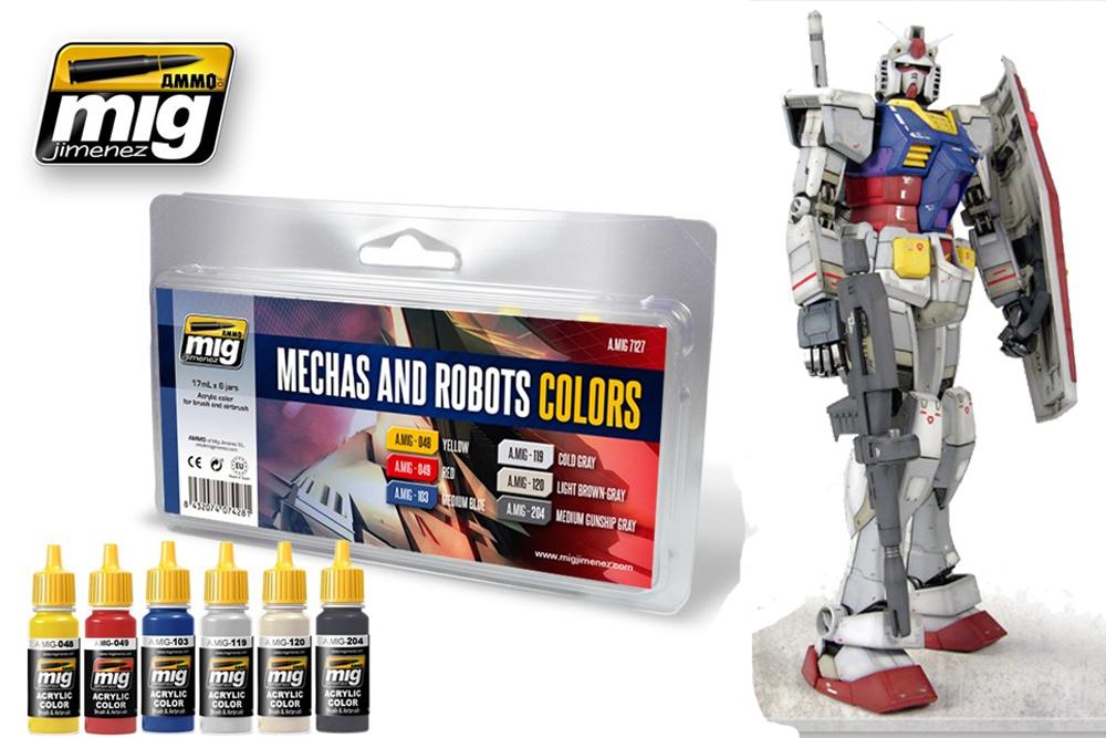 Conjunto de cores especializadas para pintura em ROBOTS & Gundams