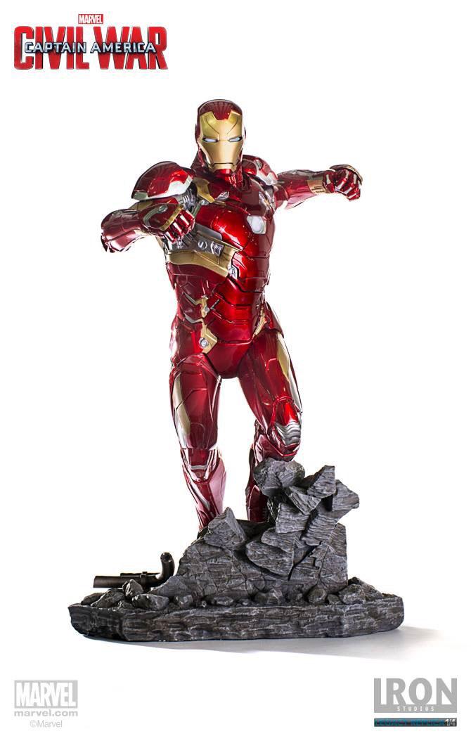 Estátua Captain America Civil War Legacy Replica Iron Man Mark XLVI 50 cm