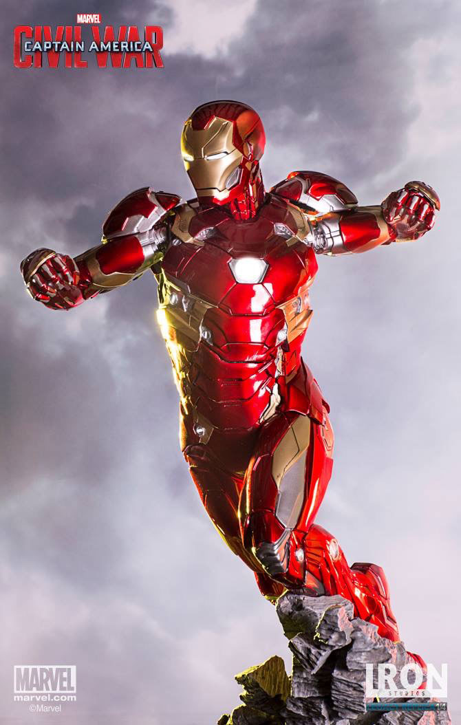 Estátua Captain America Civil War Legacy Replica Iron Man Mark XLVI 50 cm