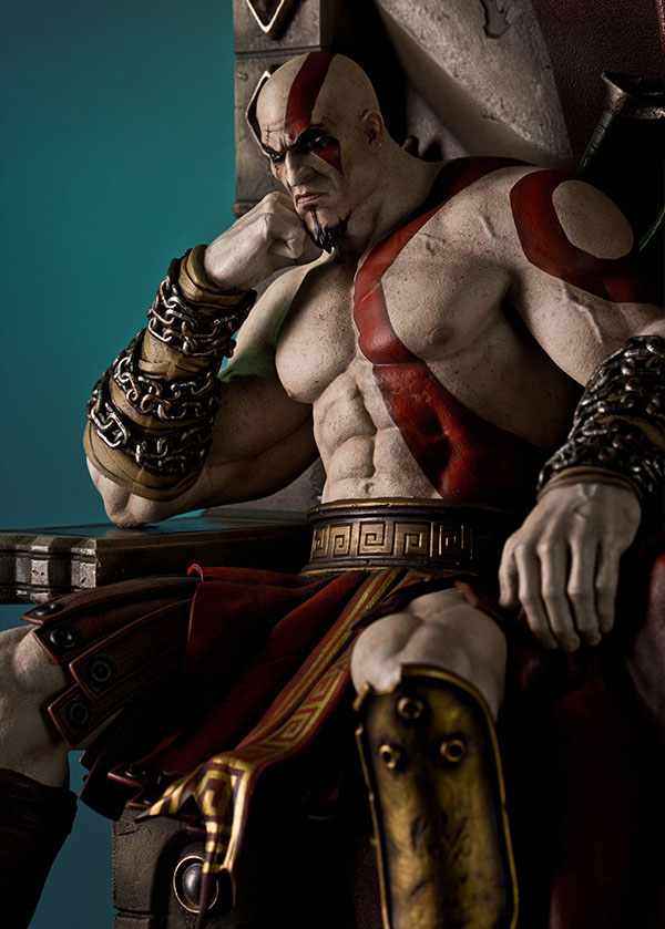 Estátua God of War 1/4 Kratos on Throne 74 cm