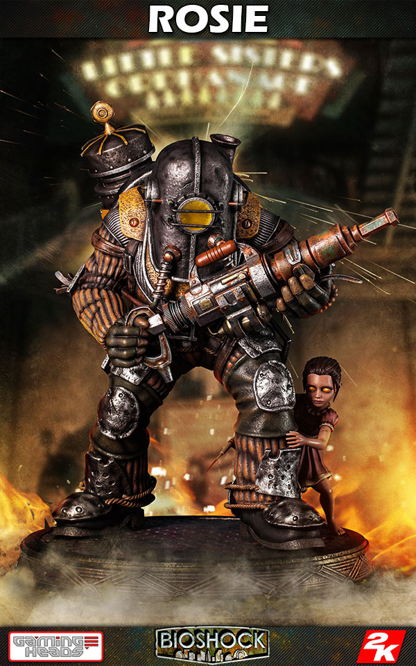 Estátua BioShock Infinite 1/4 Big Daddy - Rosie Limited Edition 53 cm