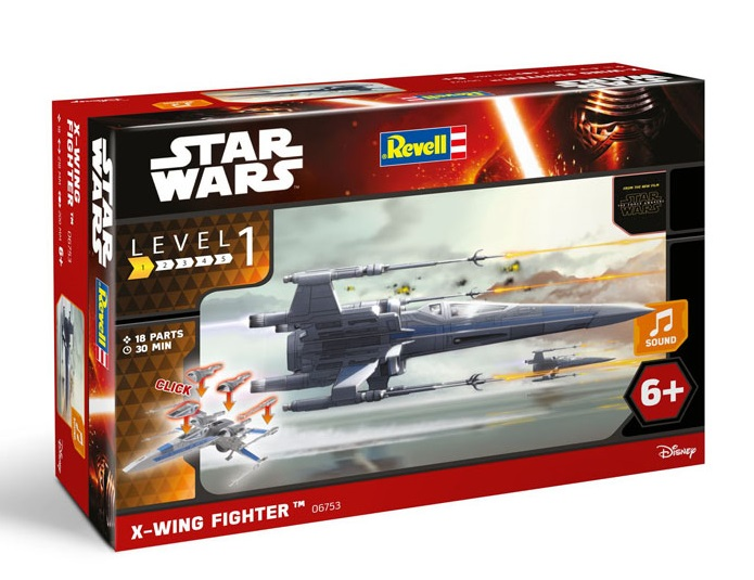 Star Wars Episode VII Build & Play ModelKit with Sound X-Wing Fighter 22 cM