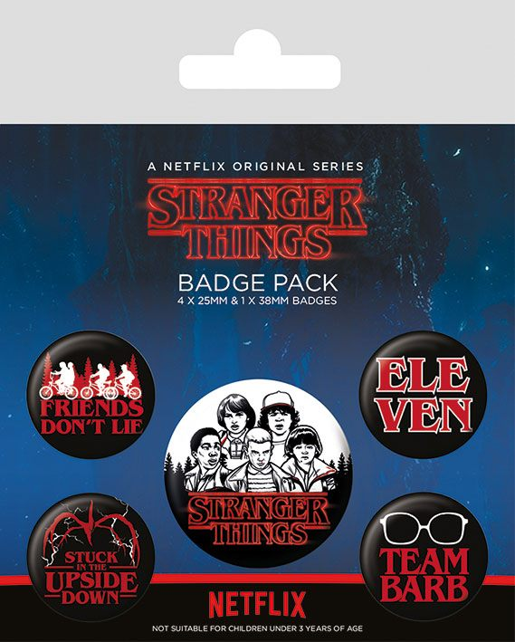 Stranger Things Pin Badges 5-Pack Characters