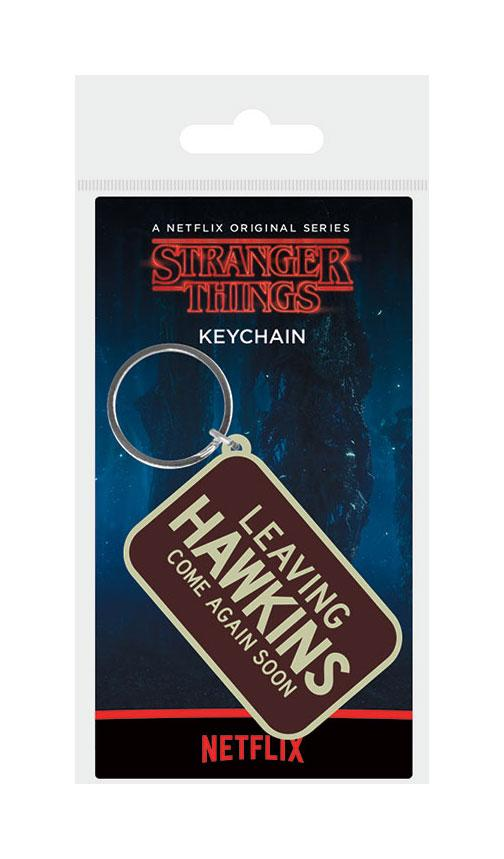 Stranger Things Rubber Keychain Leaving Hawkings 6 cm