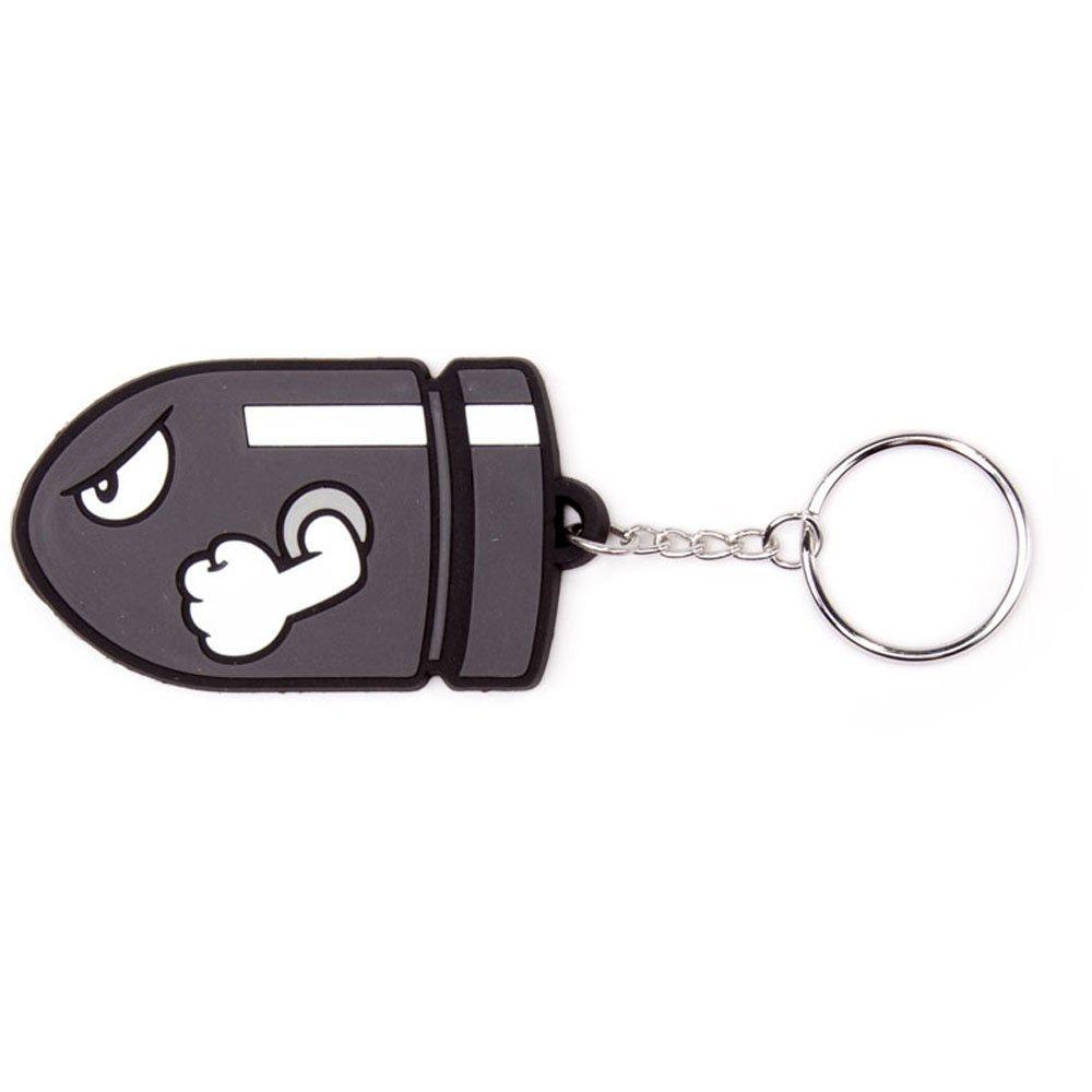 Porta-Chaves Nintendo - Bullit Bill Rubber 6 cm