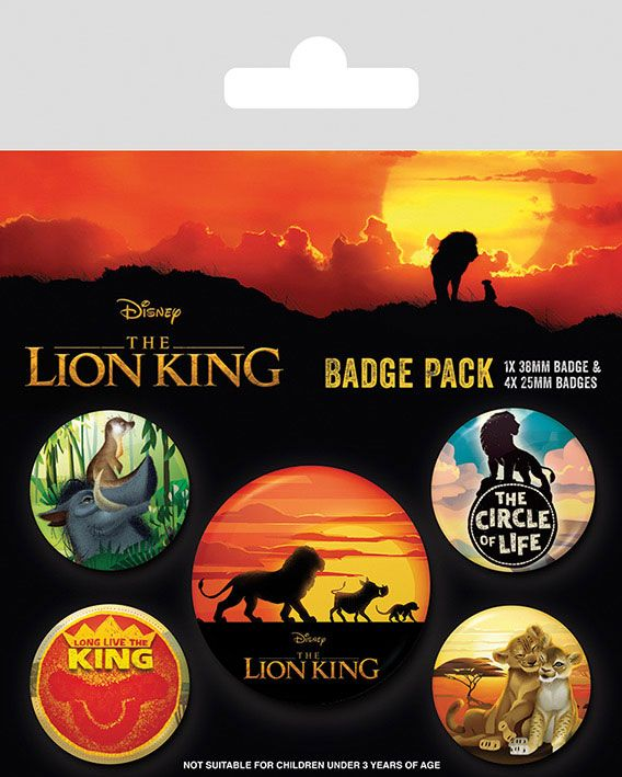 Conjunto de Pins The Lion King 5-Pack Life of a King