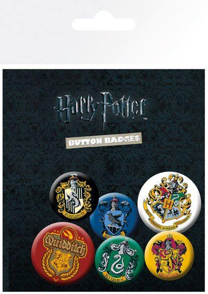 Conjunto de Pins Harry Potter  6-Pack Crests