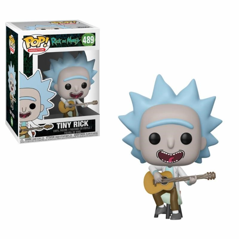 Pop! Cartoons: Rick and Morty - Tiny Rick with Guitar Vinyl Figure 10 cm