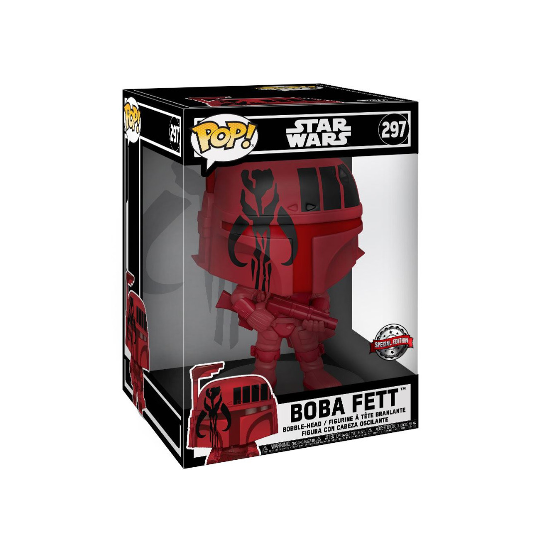 Star Wars Super Sized POP! Figure Boba Fett (Red) Exclusive Edition 25 cm