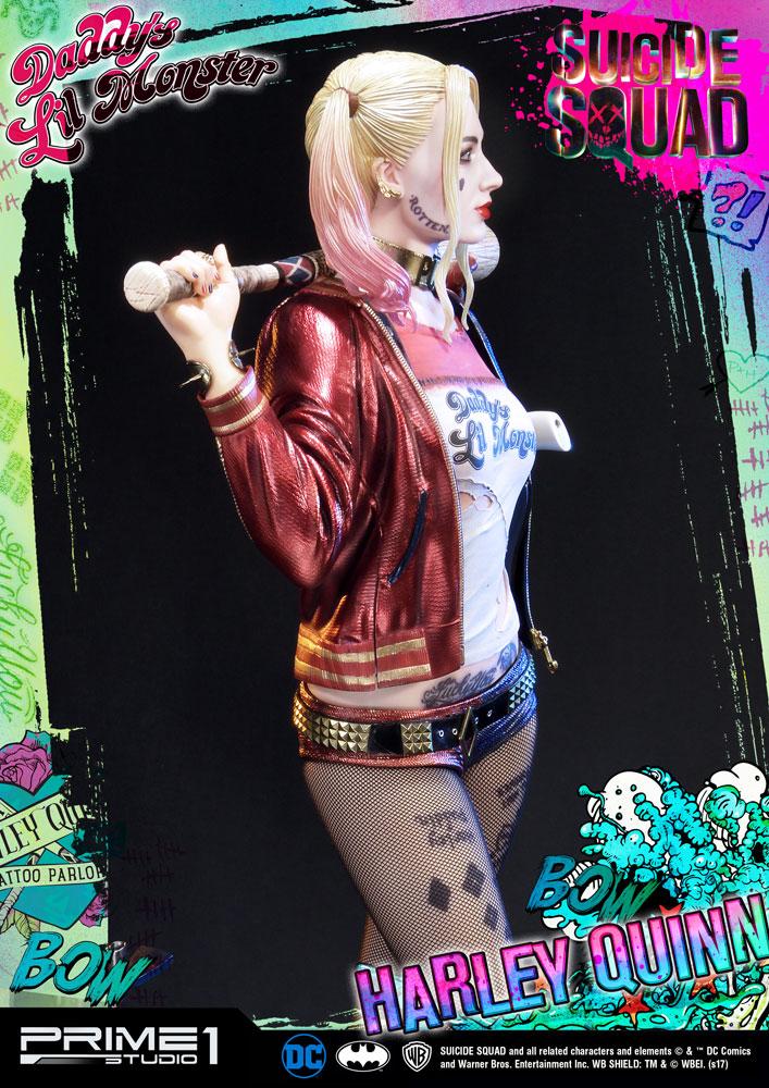 Estátua Suicide Squad 1/3 Harley Quinn 72 cm