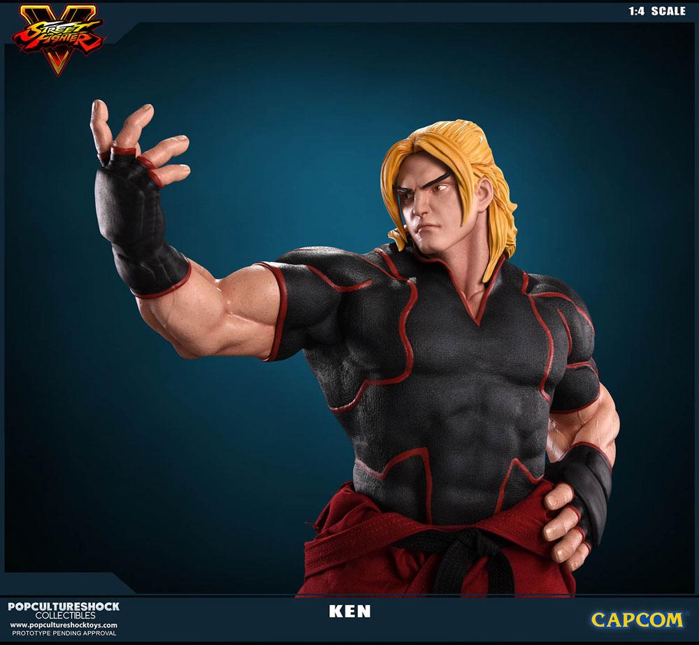 Estátua Street Fighter V 1/4 Ken Masters 43 cm