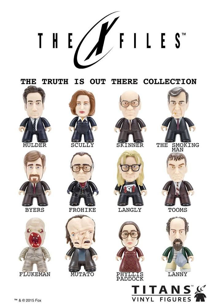 X-Files Trading Figure The Truth Is Out There Collection Titans 8 cm
