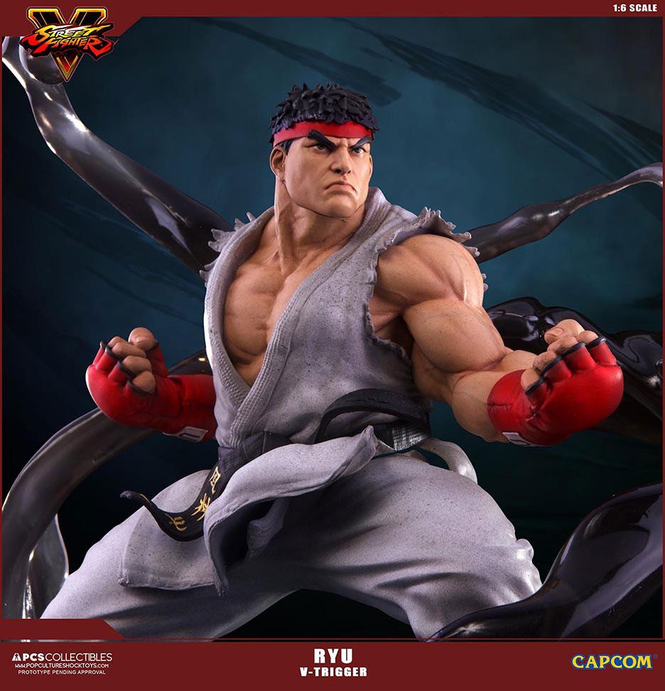 Estátua Street Fighter V 1/6 Ryu V-Trigger 32 cm