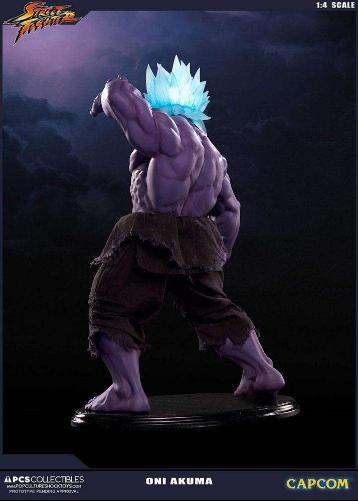 Estátua Street Fighter 1/4 Oni Akuma 45 cm