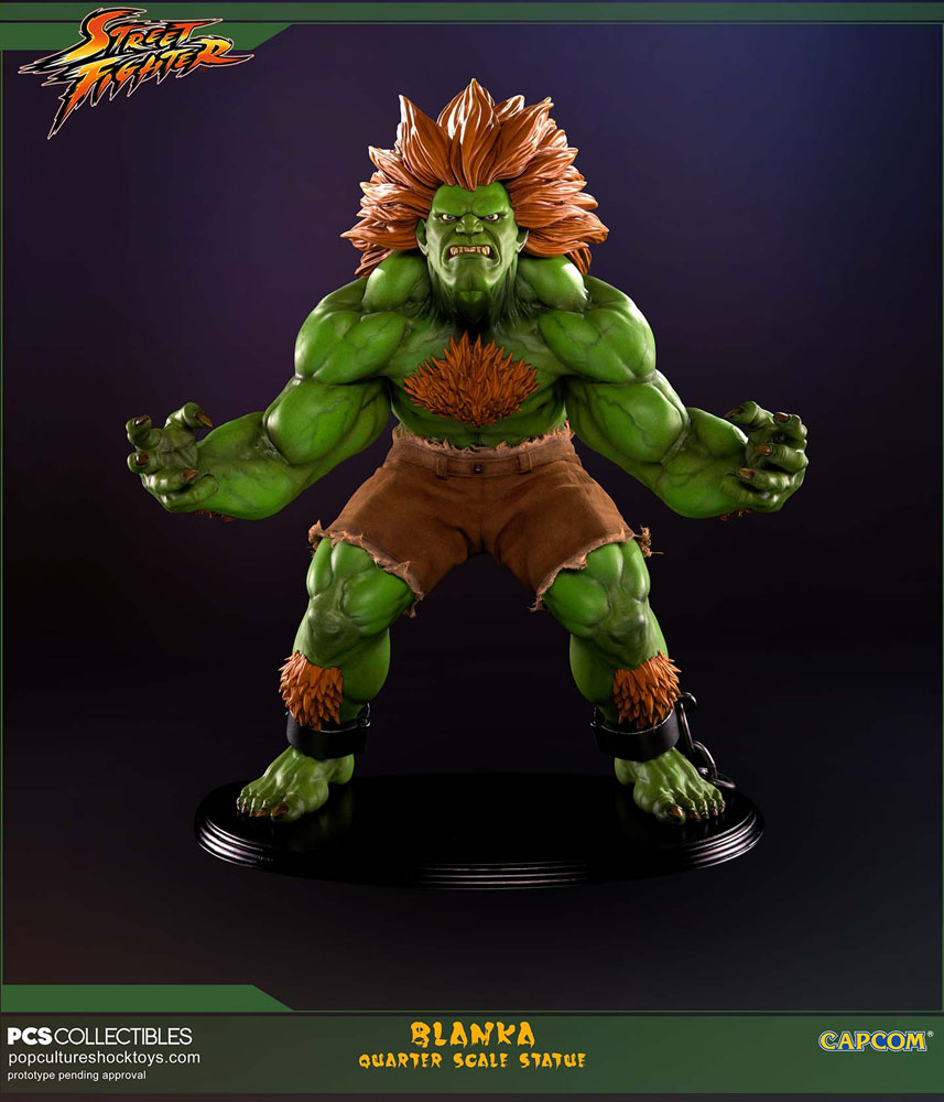 Estátua Street Fighter 1/4 Blanka Limited Edition 43 cm