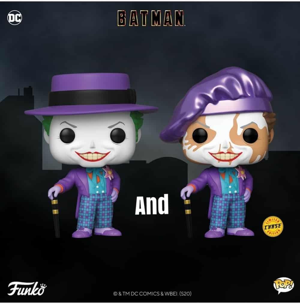 Batman 1989 POP! Heroes Figures Joker 10 + Chase Vinyl Figure 10 cm