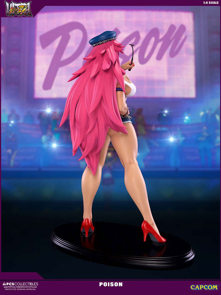 Estátua Street Fighter IV 1/4 Poison 43 cm