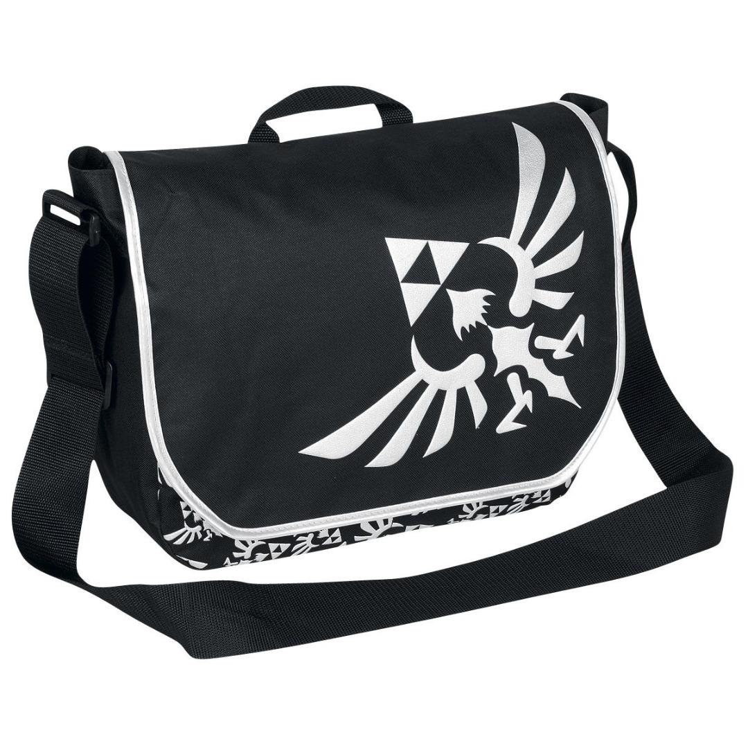 Mala Nintendo - Zelda Black Messenger bag with Silver Logo Skyward