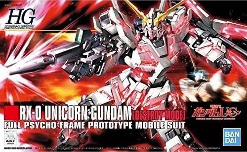 Gundam: High Grade - RX-0 Unicorn Gundam Destroy Mode 1:144 Model Kit
