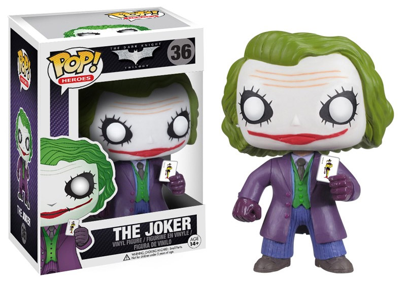 Funko Pop! Heroes: Dark Knight MOVIE The Joker Vinyl Figure 10 cm