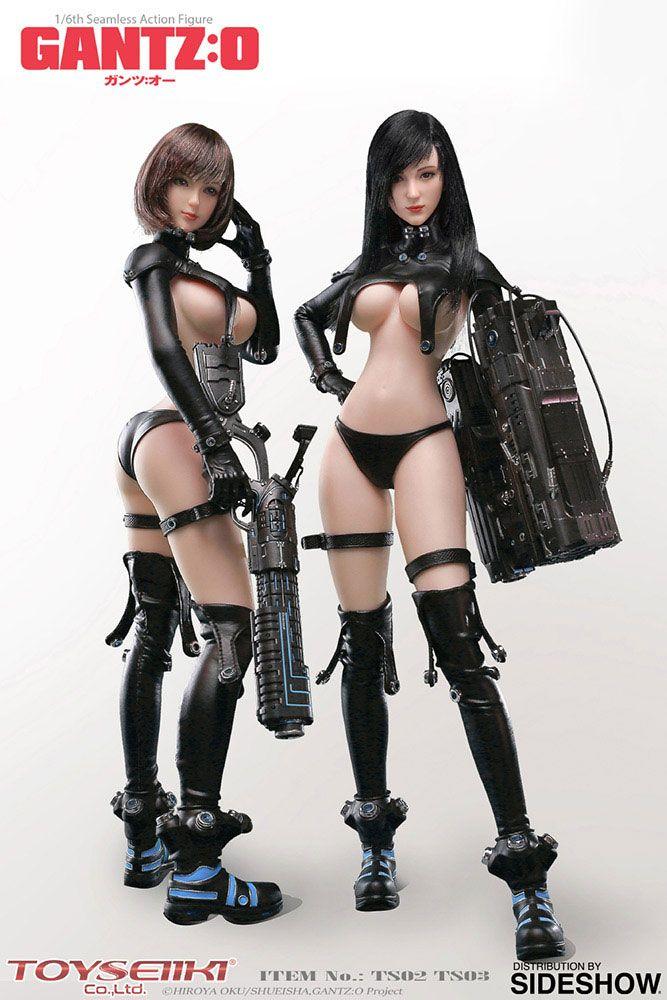 Gantz:O Seamless Action Figures 1/6 Reika & Anzu 29 cm