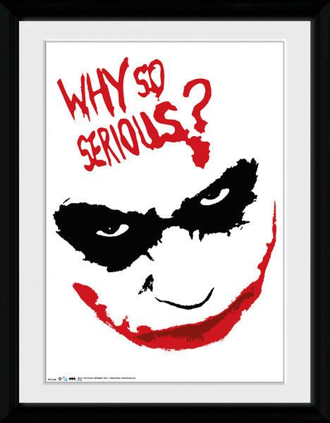 Poster com Moldura Premium DC Comics Why So Serious 45 x 34 cm