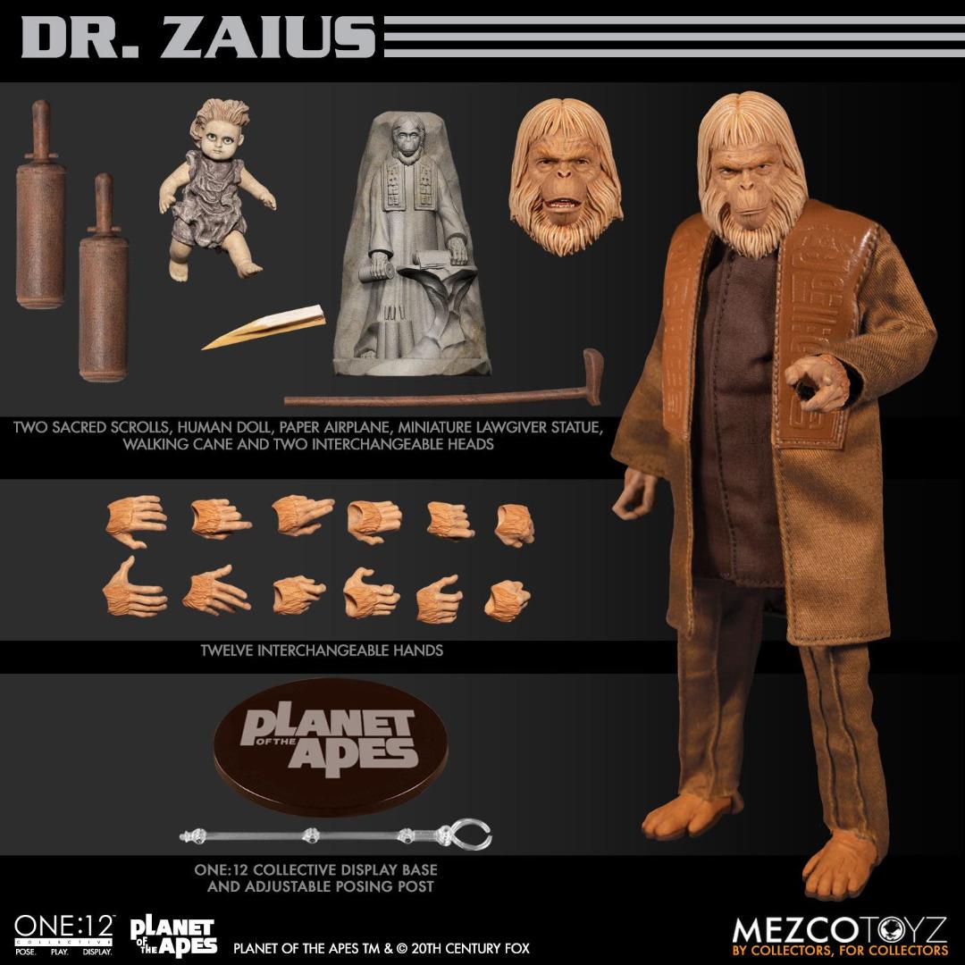 Planet of the Apes Action Figure 1/12 Dr. Zaius 16 cm