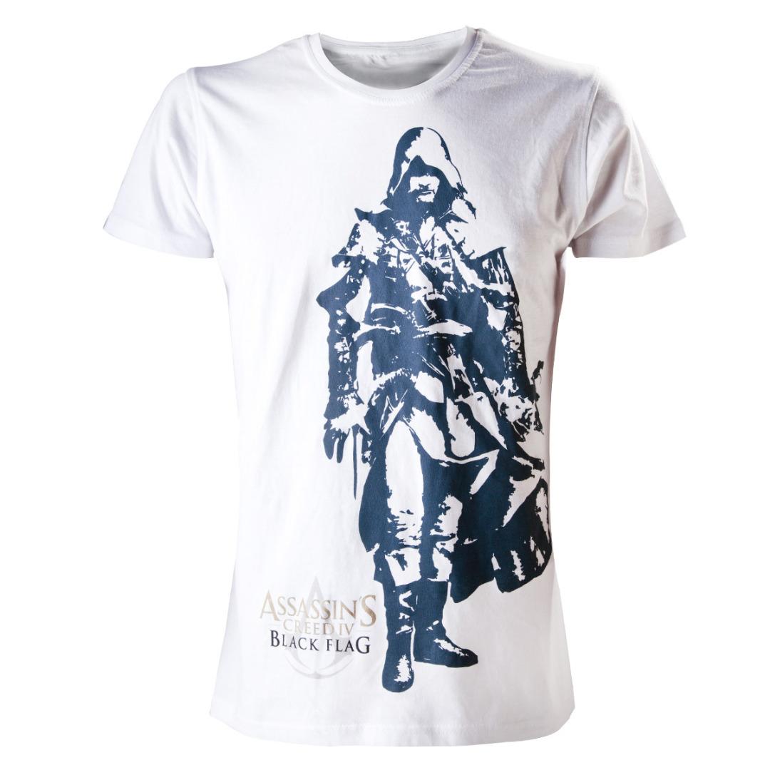 T-Shirt Assassin's Creed IV - Branca Edward Tamanho L