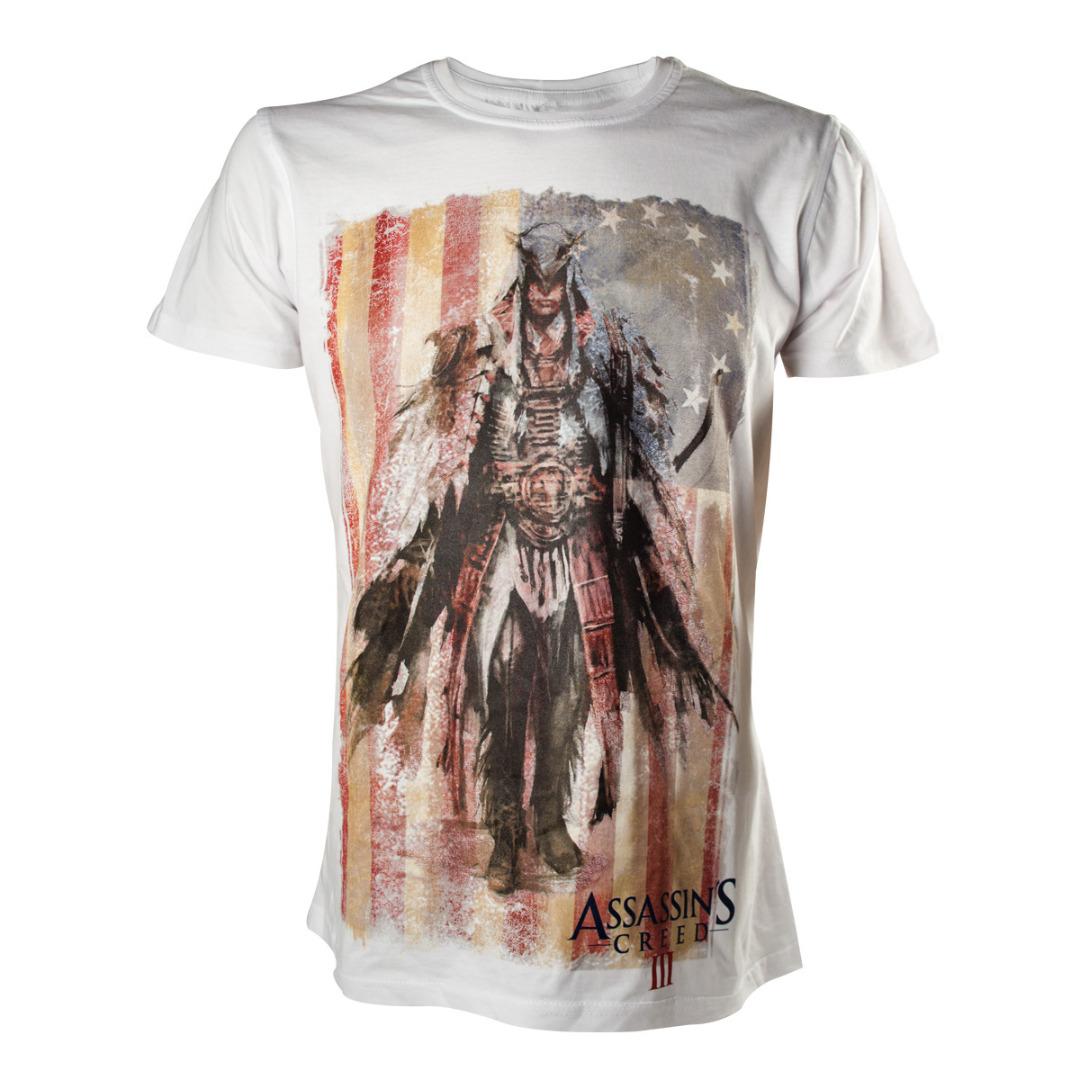 T-Shirt Assassin's Creed - Concept Art. Branca Tamanho L