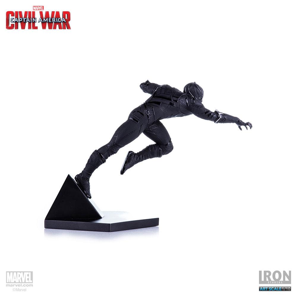 Estátua Captain America Civil War 1/10 Black Panther 19 cm