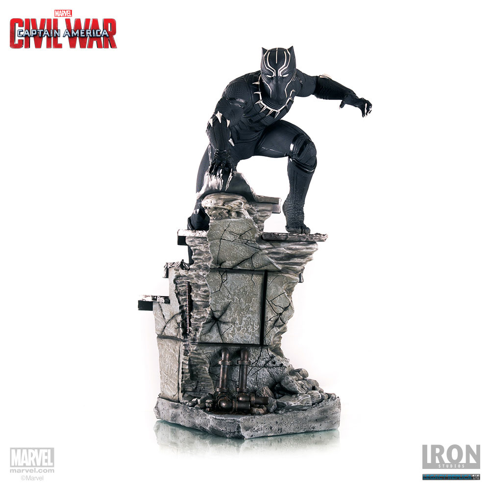 Estátua Captain America Civil War Legacy Replica 1/4 Black Panther 57 cm