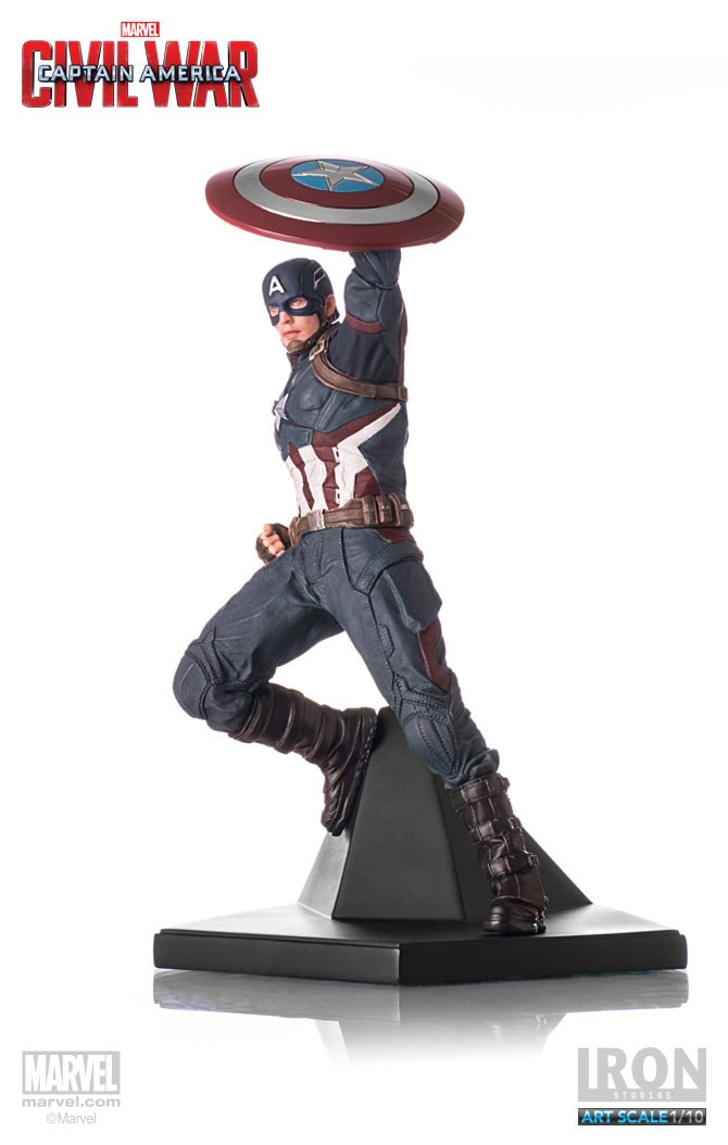 Estátua Captain America Civil War 1/10 Captain America 25 cm