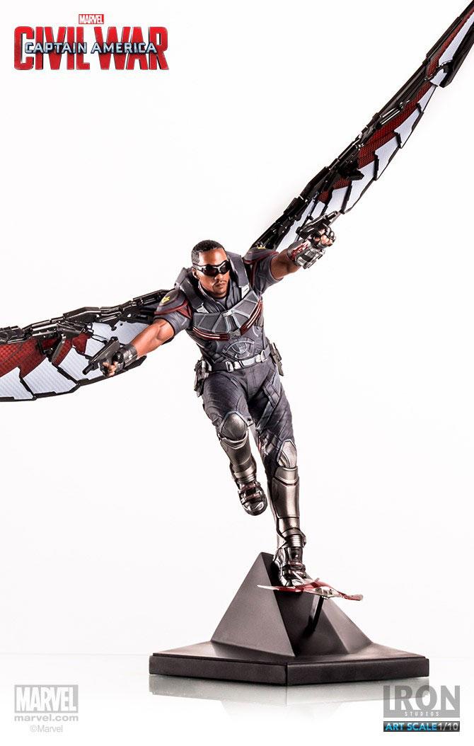 Estátua Captain America Civil War 1/10 Falcon 33 cm