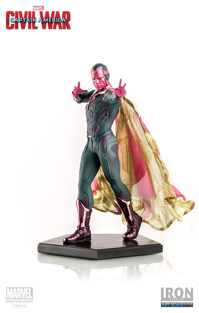 Estátua Captain America Civil War 1/10 Vision 20 cm