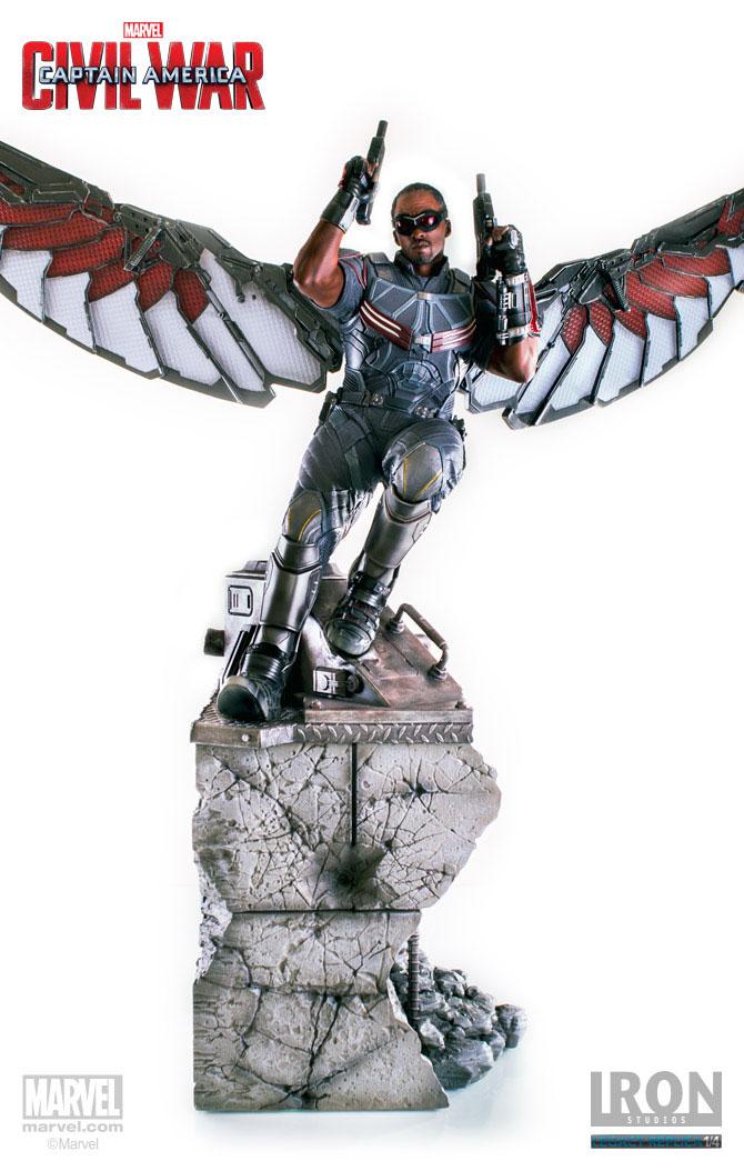 Estátua Captain America Civil War 1/4 Falcon 76 cm