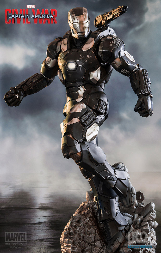 Estátua Captain America Civil War 1/4 War Machine Mark III 70 cm