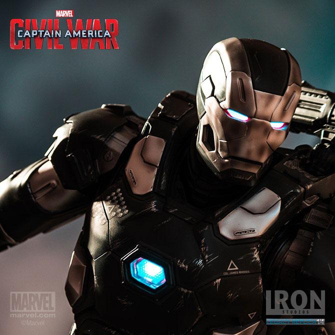 Estátua Captain America Civil War 1/4 War Machine Mark III 70 cm