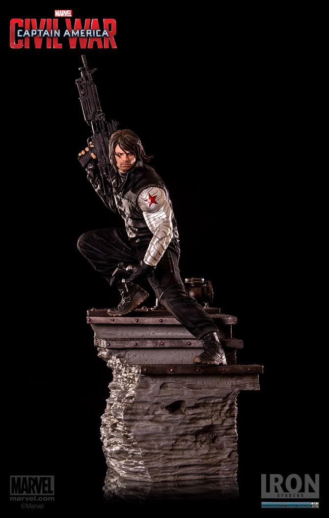 Estátua Captain America Civil War 1/4 Winter Soldier 70 cm